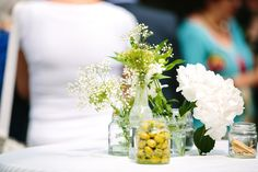Lovely flowers and olives at our wedding 8th May 2013.