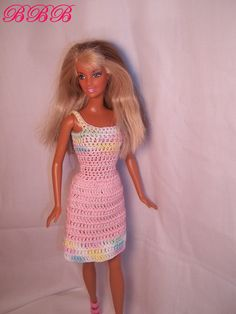 Crochet Barbie Dress in Pink