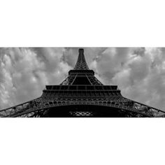 Trademark Fine Art Eiffel Panoramica Canvas Art by Moises Levy, Size: 10 x 24, Multicolor