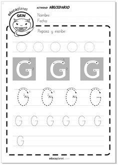 Abeceadario -epasa y escribe letra G