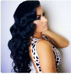 Loving this blue/black hair. ..my current hair color