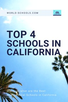 see the post for a list of the 4 best international private schools in California USA! Best schools in USA, International Education. Filter by fee, cost, curriculum, contact the schools directly or request our help