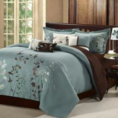 Chic Home Bliss Garden 12 Piece Comforter Set Floral Embroidered Design Bed in a Bag Sage Decor, Comforter Sets, Comforters, Bed Comforters, Home, Chic Home, Chic Home Design, Luxury Bedding, Bedding Sets