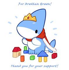 Draw Sharks Reward Art for Drekhan Green! by Vress-shark - Pet Shark, Baby Shark, Cute Animal Drawings, Cute Drawings, Pokemon, Amazing Drawings, Cute Comics, Cute Chibi, Animated Cartoons