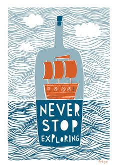 Never Stop Exploring Fine Art Print Large by FreyaArt on Etsy, $75.00