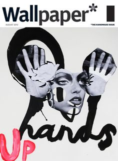 Love the connection between type and hands in this collage || QUENTIN JONES » Wallpaper