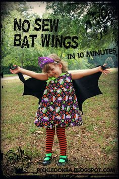 "I added ""10 minute, No Sew Bat Wings"" to an #inlinkz linkup!http://pickledokra.blogspot.com/2013/09/no-sew-bat-wings-10-minute-costume.html"