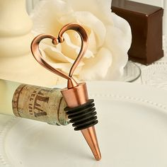 It's one love, one heart with these stylish heart design wine bottle stoppers When you choose a useful kitchen favor like a wine bottle stopper, you're giving your guests a lasting and sure-to-be-used memento of your day. And, when you add an elegant, heart themed design, [...]