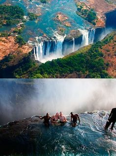 Places to visit in Africa in The Devil's Pool, Victoria Falls, Zambia. Oh The Places You'll Go, Places To Travel, Places To Visit, Chutes Victoria, Safari, Victoria Falls, Future Travel, Africa Travel, Adventure Is Out There