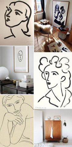apartment therapy. sometimes i like my art super simple. a collection of sketches is just so sophisticated looking, don't you think? when at the flea market i always keep my eyes peeled for classic dr