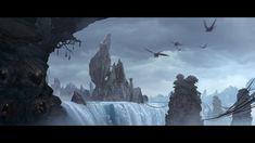 Monster's Castle, Theo Aretos on ArtStation at https://www.artstation.com/artwork/bqQYn