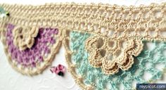 MyPicot | Free crochet patterns Crochet Flower Edging