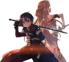 Kirito and Asuna 1/Sword Art Online by ZerolShikumai