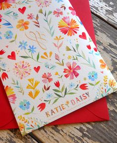 Katie Daisy greeting card (back)