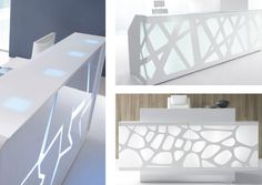 3 reception desks, 3 design offers, 3 options for you. Neoconography by MDD.