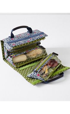 Jayla Hanging Toiletry Bag Size: 24 H x 10 W, unrolled. Each triangle section measures 4 H x 9 W. Sewing Accessories, Travel Accessories, My Bags, Purses And Bags, Fabric Bags, Bag Organization, Toiletry Bag, Sewing Tutorials, Bag Making