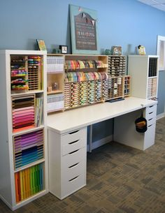 Spring cleaning: Organize a craft room in 5 days. come with me - Spring cleaning: Organize a craft room in 5 days. come with me Spring cleaning: Organize a craft ro - Craft Room Storage, Ikea Craft Room, Small Craft Rooms, Craft Room Decor, Cricut Craft Room, Diy Bedroom Decor, Craft Organization, Paper Storage, Organizing Ideas