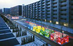 Gifu Kitagata Apartments, Kitagata, Japan by Martha Schwartz Partners...coolest landscape architects ever