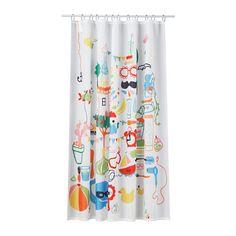 BADBÄCK Duschvorhang IKEA Dichtes Polyestergewebe mit Wasser abweisender Oberschicht.