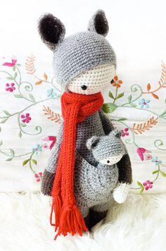 Crochet Pattern Doll KIRA the kangaroo PDF. 5,50, via Etsy.#Repin By:Pinterest++ for iPad#