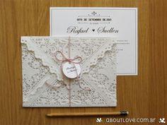 toalha de papel rendada para convite de casamento - Pesquisa Google