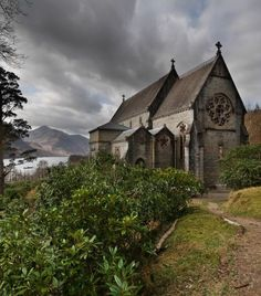 It seems like no matter what direction you point your camera in Scotland, you're going to come across something beautiful!  This is an old church on the way to  Mallaig.