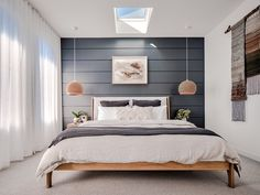 The stunning Master bedroom at Barefoot Bay Villa. Located in Byron Bay the Villa's 5 bedrooms are. Contemporary Bedroom Decor, Modern Master Bedroom, Modern Bedroom Design, Master Bedroom Design, Minimalist Bedroom, Home Decor Bedroom, Bedroom Designs, Bedroom Furniture, Modern Bedrooms