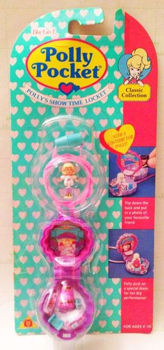 Polly Pocket 1995 Polly'S Show Time Locket Necklace Vintage Bluebird NEW | eBay
