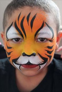 Halloween Tiger Makeup Tutorial for FDA Approved Crazy Circle ...