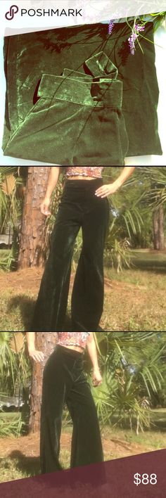 Vintage💚Velvet Additional listing. Only one available. See other listing for more pics and info vintage Pants