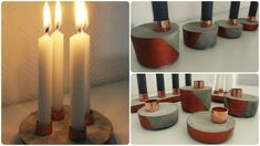 Beton Adventskranz (3 Varianten) * DIY * Concrete Advent Wreath [eng sub]