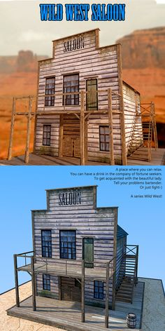 A place where you can relax. Old West Town, Wild West Theme, Woodworking Workshop, Popsicle Sticks, Ghost Towns, Model Trains, Westerns, Weapons, Landscaping