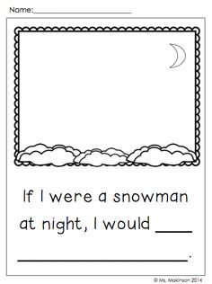 Snowmen at Night reading response