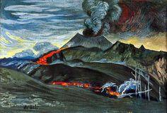 Dr.Alt: tema frecuente, sublime, vive en faldas de volcanes. Conocido vulcanologo con textos científicos ilustrados con trabajos gráficos.