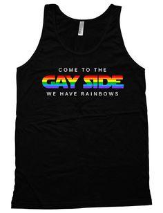 Oregon LGBT Gay Pride Rainbow White Adult Tank Top