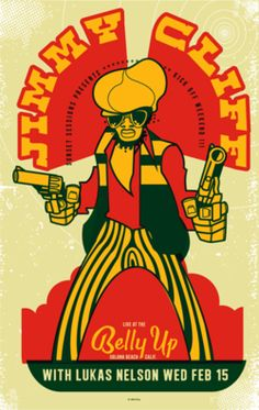 barefootmarley: jimmy cliff gig poster