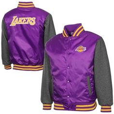 Los Angeles Lakers Hook Full Button Satin Jacket