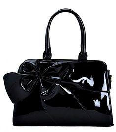 6e612062a29 Atomic Black Patent Vinyl Bow Handbag Beautiful Bags, Closure, Bows,  Fashion Accessories,