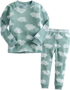 Amazon.com: Vaenait Baby 12M-7T Kids Boys Sleepwear Pajama Top Bottom 2 Pieces Set Long Cloud: Clothing