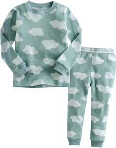 Amazon.com: Vaenait Baby 12M-7T Kids Boys Sleepwear Pajama Top Bottom 2 Pieces Set Long Cloud: Clothing