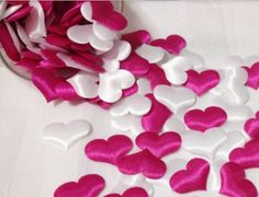 1000pcs Fabric Heart Party Decorations Wedding DIY by shopshopbaby