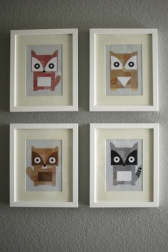 Woodland Creatures Wall Art - perfect in a Woodland Nursery
