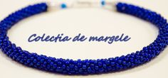 Infinity blue - beading croche necklace by Colectia de margele  http://colectiademargele.ro/