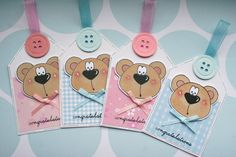 Congratulations New Baby Boy and Girl Bears by CraftyMushroomCards, £3.00