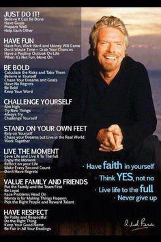 Inspiration by Richard Branson