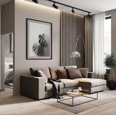 Living Room Tv, Living Room Modern, Interior Design Living Room, Home And Living, Living Room Designs, Modern Contemporary Living Room, Modern Minimalist Living Room, Luxury Bedroom Design, Contemporary Apartment