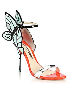 Sophia Webster - Chiara Butterfly Patent Leather Sandals (=)