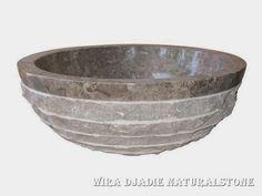 Sink Bowl Outside Mix Polish Alur Marmo Color : Grey Size: Ø 35 cm X H. 15 cm Ø 40 cm X H. 15 cm Ø 45 cm X H. 15 cm