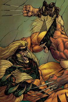 Wolverine Battles Sabertooth
