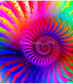 Psychedelic Spiral Fractal Clothes and Gifts